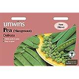 Unwins Pictorial paquete–Pea (Mangetout) delikata–130–Semillas