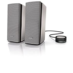 Bose Companion 20 Multimedia Speaker System for Computers, Tablets and Audio Devices - Grey