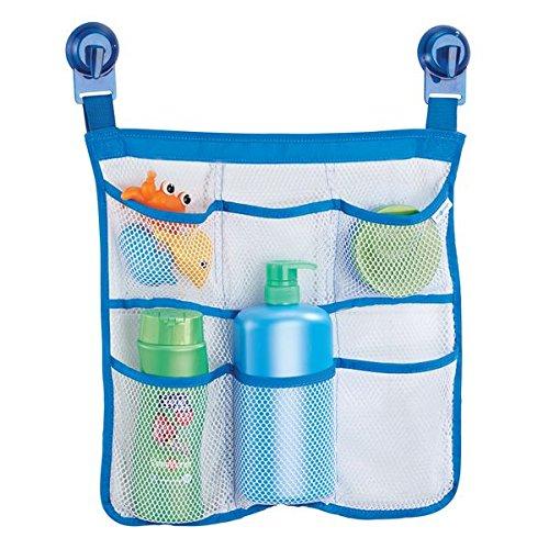 mDesign Bad Organizer für Badewanne und Dusche ohne Bohren - Badewannen Caddy mit 6 Fächern zur cleveren Bad Aufbewahrung von Badzubehör, Shampoo oder Badewannenspielzeug - transparent