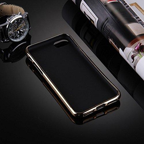 iPhone Case Cover Pour iPhone 7 Litchi texture galvanoplastie TPU d'impression couverture de protection arrière ( SKU : Ip7g0086g ) Ip7g0086l