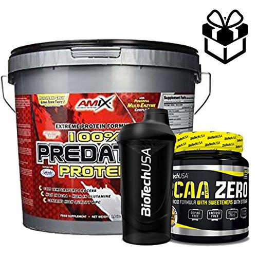 AMIX Predator Protein - 4 Kg Cookies + Bcaa 8:1:1 Zero + Mezclador