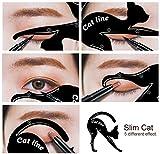 #9: Aurinko Reusable Eyebrow Shaping Card Make Up Cat Line Template