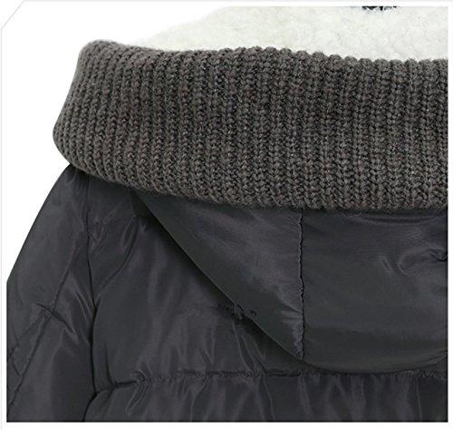 Fanessy Damen Mantel grau grau Asiatisch S/32-34 Grau
