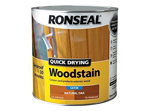 ronseal-qdwsno25l-25-litre-satin-finish-quick-dry-woodstain-natural-oak