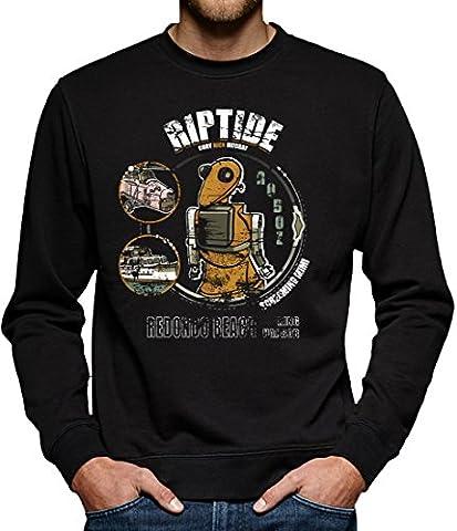 TLM Riptide Sweatshirt Pullover Herren M Schwarz (Trio Von Halloween-kostüme)
