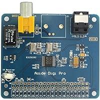 WINGONEER HIFI DiGi Pro Tarjeta de sonido digital para Raspberry pi 3 Modelo B | Dos osciladores | Fibra óptica I2S SPDIF | 44.1 y 48 kHz | 2B 3B