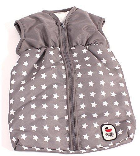 Preisvergleich Produktbild Schöner Puppenschlafsack Sternchen (Grau-Weiß)