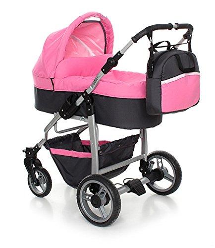Comprar Carro Bebe 3 Piezas Rosa Grafito Carritos Baratos