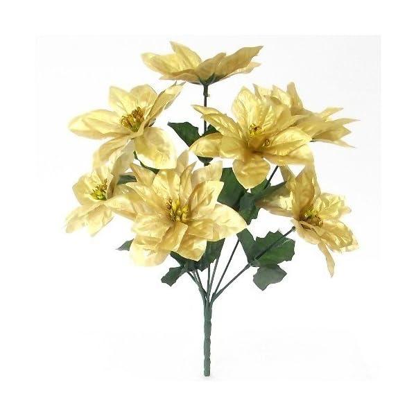 A1-Homes – Ramo de Flor Artificial de Pascua (30 cm, 7 Cabezas de Flores Cada Ramo)