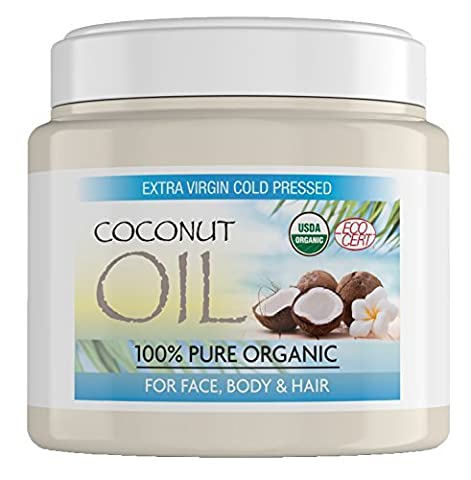Organic Coconut Oil for Hair Made from 100% Pure Coconuts,