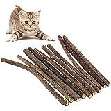 The Fellie 10 stücke Katzenminze-Stäbchen natürliche Matatabi Silvervine Sticks katzenspielzeug für Kätzchen, Katzen, Kauspielzeug, Katzenminze, Maus