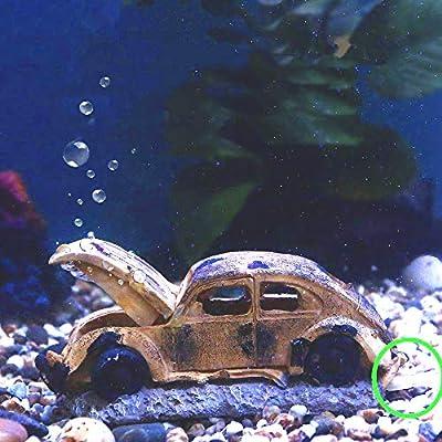 boxtech Ornamente für Aquarien, Landschaftsdekoration Fishtank Zubehör Dekor künstliche Polyharz (Ornaments Auto)