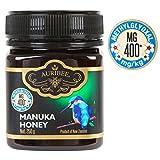 Auribee aktiver Manuka Honig aus Neuseeland - zertifiziert MGO 400+ (entspricht UMF 13) - Premium Qualität - wirkt antibakteriell aktiv - mit wertvollem Methylglyoxal - aus Neuseeland
