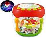 #6: Musical Flash Drum With Flashing Lights And Rotating Fish Assorted Colors