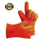 Homar Barbacoa Guantes Accesorios para barbacoas y ahumadores (Orange)