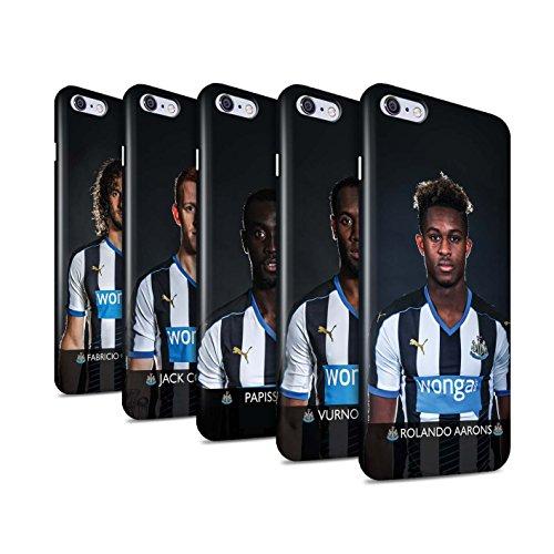 Officiel Newcastle United FC Coque / Clipser Brillant Etui pour Apple iPhone 6S+/Plus / Pack 25pcs Design / NUFC Joueur Football 15/16 Collection Pack 25pcs