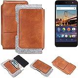 K-S-Trade Gürteltasche für General Mobile 4G Gürtel Tasche Schutz Hülle Hüfttasche Belt Case Schutzhülle Handy Hülle Smartphone Sleeve aus Filz + Kunstleder (1 St.)