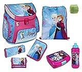 Familando Disney die Eiskönigin Schulranzen-Set 8tlg. Scooli Campus Up Frozen Magic mit Dose, Flasche, Federmappe und Regenschutz