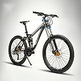 LightInTheBox Mountain Bike Radfahren 24 Speed 26 Zoll/700CC 60mm Herren / Unisex Erwachsene EF51-8 Double Disc Bremse Suspension ForkFull Suspension - Schwarz