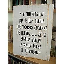 Amazon.es: cuadros con frases vintage