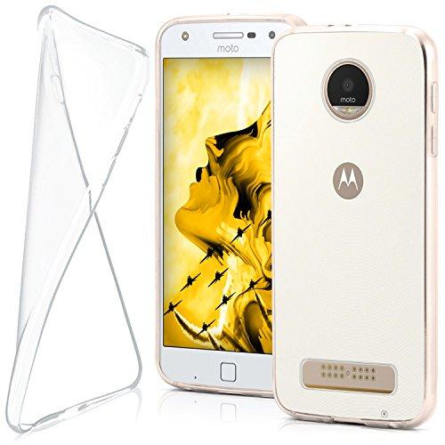 moex Lenovo Moto Z Play | Hülle Silikon Transparent Klar Clear Back-Cover TPU Schutzhülle Dünn Handyhülle für Motorola Moto Z Play Case Ultra-Slim Silikonhülle Rückseite