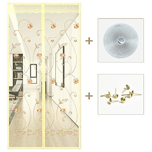 Love home in estate zanzariera magnetica, morbido porta finestra del salotto domestico di chiusura automatica di garza.-b-120x220cm(47x87inch)
