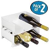 Best armarios de vino - mDesign Juego de 2 botelleros apilables – Práctico Review