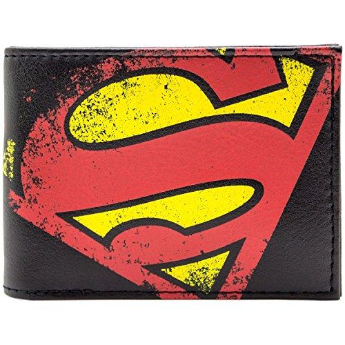 DC Comics Superman Retro-Emblem Schwarz Portemonnaie (Superman Kostüm Comics Neue Dc)