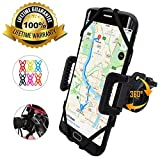 TruActive - PREMIUM EDITION! - Universal Bike Phone Holder Mount for Bicycle, Motorbike, Mountain Bike, Road Bike - 360° Rotate - iPhone. Samsung, Huawei, Google, etc. - 6 COLOURS INCLUDED!