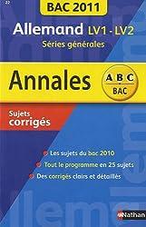 Allemand LV1 - LV2 Séries générales : Sujets corrigés