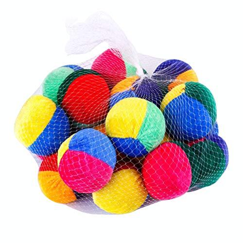 STOBOK 20 Stücke Jonglierbälle Set Beanbag Bälle für Anfänger Indoor Outdoor Spielen Spielzeug für Kinder Spielball Stoffball (Zufällige Farbe)