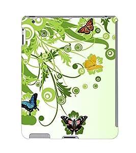 Fuson 3D Printed ButterFly Wallpaper Designer Back Case Cover for Apple iPad 4 - D815