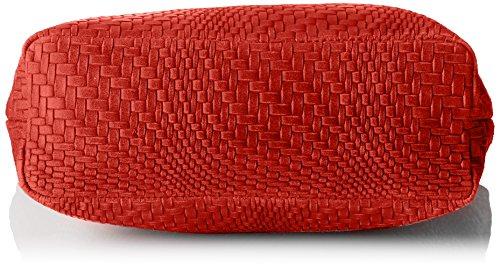 Chicca Borse Damen 80060 Shopper, 40x34x10 cm Rot (Rosso)