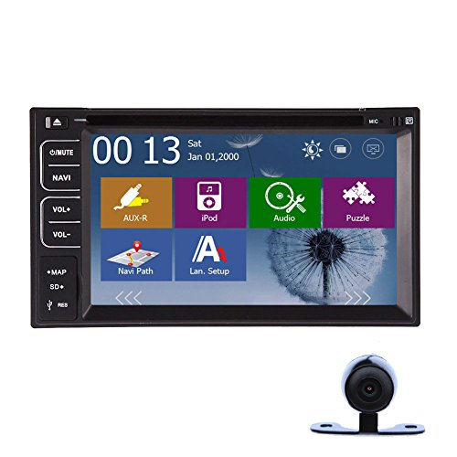 Model Deck (VCD HOT 2015 Neue Windows Bluetooth CE 8 UI Hot Model 6.2 Deck Inch Double 2 DIN In Dash Zubeh?r Touchscreen-LCD-Monitor mit Audio DVD CD MP3 MP4 USB-Sd DVD AMFM RDS Bluetooth und GPS-Navigation FM / AM Subwoofer HD: 800 * 480 LCD-New Design f¨¹r Modul RDS Kostenlose GPS-Antenne Kostenlose GPS Karte Zur¨¹ck Doppelzimmer 2 DIN In-Dash RDS)