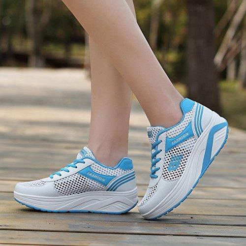Jensin & Jensin Ladies Sneaker Scarpe Sportive Comode Scarpe Da Corsa Per Il Tempo Libero Bianco / Blu