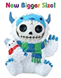 Summit 3,5pulgadas huesos peludos blanco y azul Yeti disfraz de Halloween figura decorativa