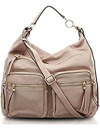 BOVARI sac bandoulière / sac porté épaule Reporter Bag (36x34x16 cm) - super soft limited edition - couleur: vintage taupe