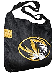 COLLECTIONNEUR ITEM: NCAA Missouri Tigers Jersey Large Tote / Umhängetasche - noir