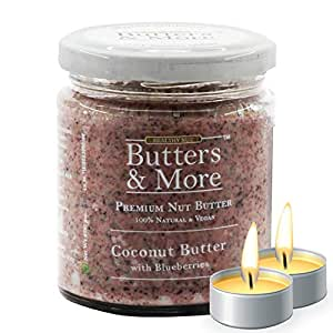 Butters & More Vegan Coconut Butter with Real Blueberries (200G) No Artificial Flavours Or Colour. with a Surprise Diwali Gift!