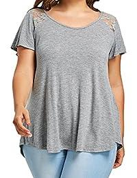 ASHOP Camisetas Muje, Camisetas Manga Corta Tallas Grandes EN Oferta Suelto Tops Blusas de Mujer
