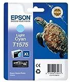 Epson T1575 Tintenpatrone Schildkröte, Singlepack, hell cyan