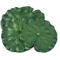 bestomz 10pcs 18cm Floating Lotus hojas Decoración Acuario Pez Estanque nenúfar Pool hojas Decoración (verde)