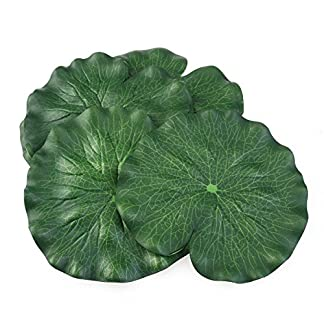 18CM Artificial Floating Foam Lotus Leaves Artificial Foliage Pond Decoration Pack of 10 2