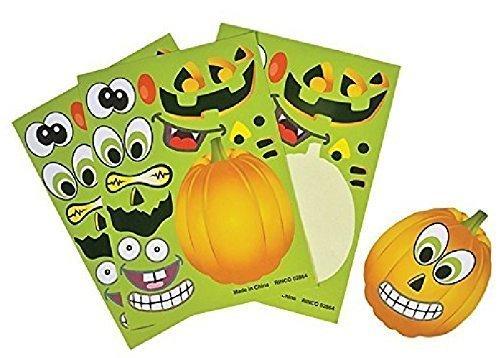 Rhode Island Novelty Make a Pumpkin Jack o lantern Halloween Sticker Sheets