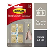 Command 4ES Wall Hooks, Small