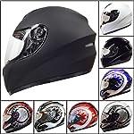 *NEW YEAR Sale* Leopard LEO-819 Full Face Motorcycle Motorbike Helmet #01 Matt Black XL (61-62cm)