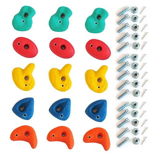 Gartenpirat Klettersteine für Kletterwand Ausführung klein Set mit 15 Stück