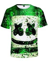 fac928560 OLIPHEE Camisetas con Impresa 3D de Marshmello Vitalidad para Niño