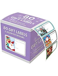 80unidades de lámina plateada–regalo Lable Navidad diseño