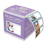 Confezione di 80argento cornice foglio autoadesivo regalo di Natale design. Ideale per regali natalizi etichette.